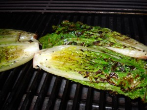 Grilled Romaine Lettuce with Balsamic Vinegar Reduction