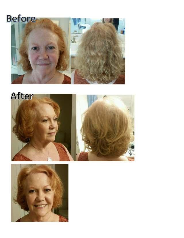 Makeover natural hair and makeup